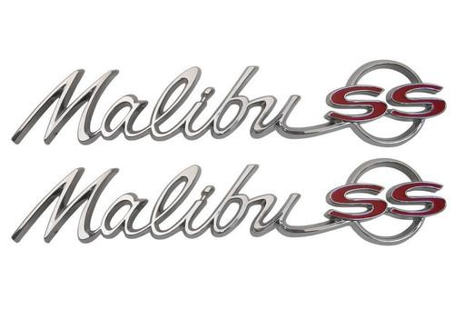 64 1964 Chevelle Malibu SS REAR Quarter Panel Emblems Scripts New