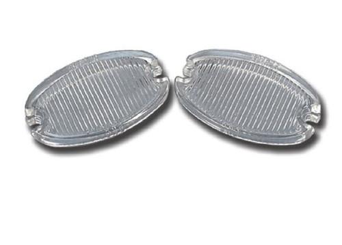 57 Chevy Rear Bumper Back Up Lights Glass Lens Lenses 1957 Chevrolet