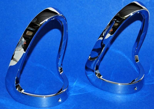 55 Chevy Chrome Tail Light Bezels New Pair Taillight