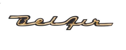 57 1957 Chevy Chevrolet Belair Bel Air Dash Trim Script Emblem