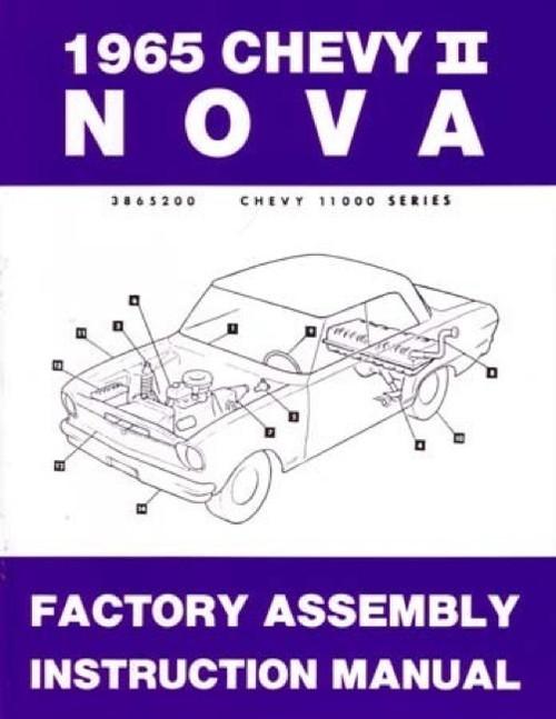 66 1966 Nova Factory Assembly Instruction Manual Book