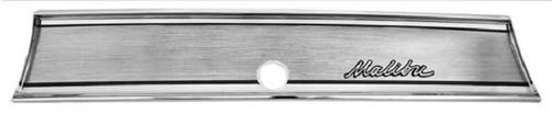 1967 67 Chevelle Malibu Dash Glove Box Trim Emblem Chrome New