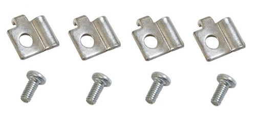 57 1957 Chevy Deluxe Heater Cable Retainer Clip & Screw Set