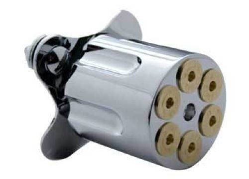 6 Shooter Bullet Gun Barrel Steering Wheel Spinner Suicide Brody Knob
