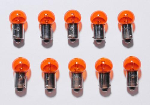 (10) 55-72 Chevy Yellow Amber Dash Panel Cluster Gauge Glove Box Light Bulbs