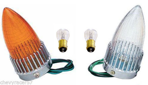 1959 Cadillac CLEAR tail light assembly 59 CADDY MOTORCYCLE CUSTOM TAIL LIGHT