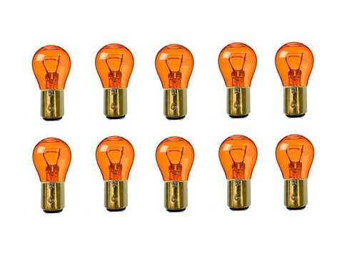 1157 Amber Stock Tail Light Rear Brake Stop Turn Signal Lamps Bulbs Box Of 10