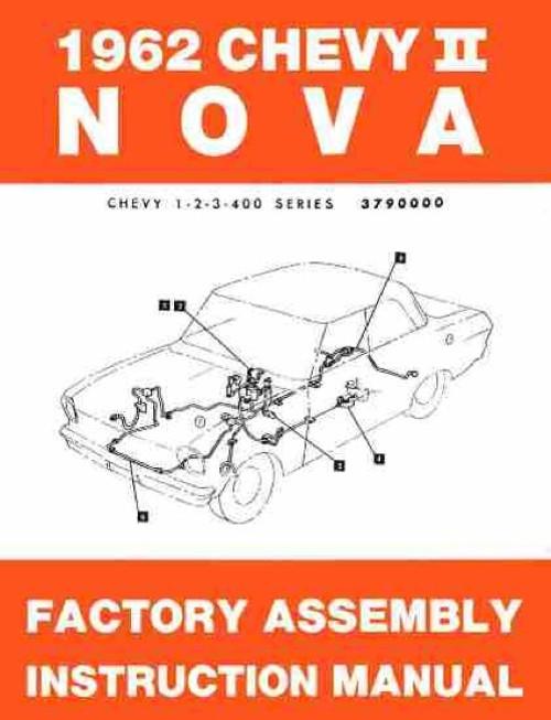 62 Chevy II Nova Factory Assembly Instruction Manual Book 1962