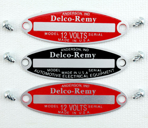 55 56 57 Chevy Delco Remy Engine Detailing Tags & Rivets Set