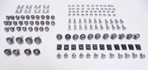 62 63 64 65 66 67 Nova Chevy II STAINLESS Front End Sheetmetal Bolt Kit 136pcs