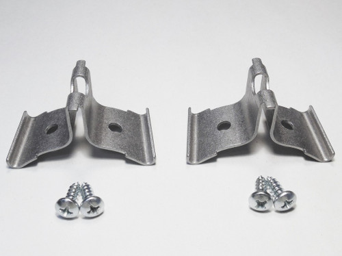 57 Chevy Corner Fin Stainless Molding Trim Clips with Screws Pair 1957
