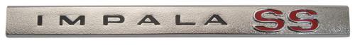 66 Chevy Impala SS Dash Glove Box Nameplate Chrome Emblem Trim Molding 1966
