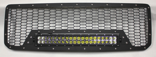 """15 16 17 18 19 GMC Canyon Custom Black Mesh Aluminum Grille & 21"""" Cree Led LightBar with Wiring Harness & Stainless Bolts"""
