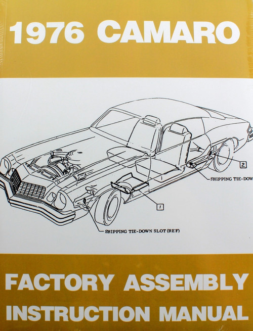 76 Chevy Camaro Factory Assembly Manual Guide Book 1976