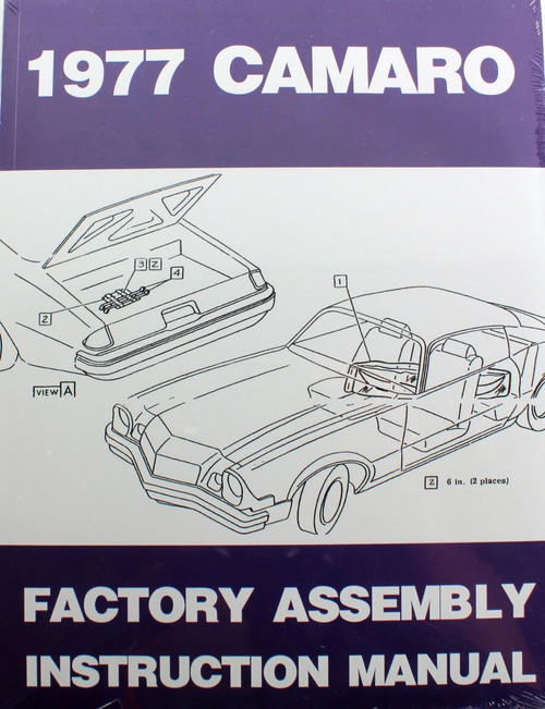 77 Chevy Camaro Factory Assembly Manual Guide Book 1977