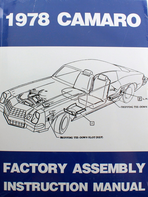 78 Chevy Camaro Factory Assembly Manual Guide Book 1978
