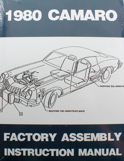 80 Chevy Camaro Factory Assembly Manual Guide Book 1980