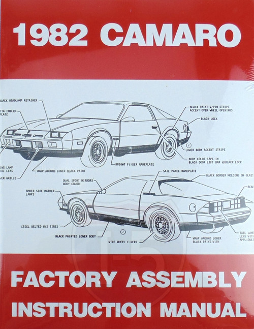82 1982 Chevy Camaro Factory Assembly Instruction Manual Guide Book 83 84 85