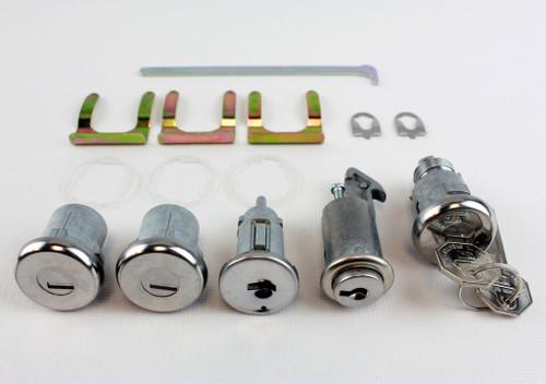 69 70 Chevy Bel Air Biscayne Impala Ignition Door Glove Box Trunk Lock Set