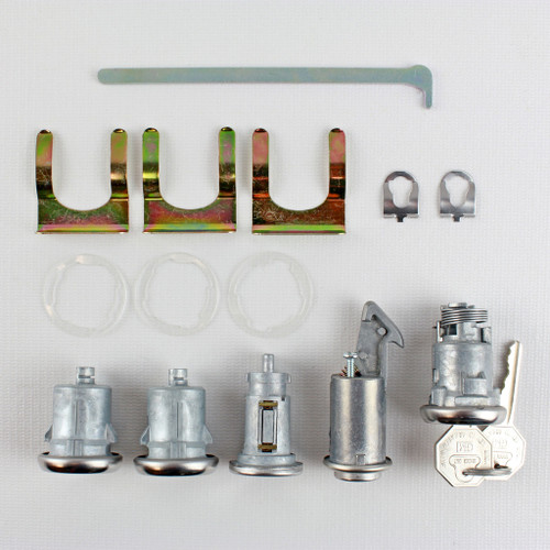 66 1966 Chevy Bel Air Biscayne Impala Caprice Ignition Doors Glove Trunk  Ignition Lock Set