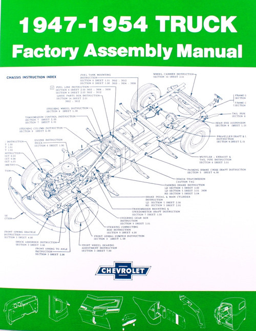 47 48 49 50 51 52 53 54 Chevy & GMC TRUCK Factory Assembly Manual Book