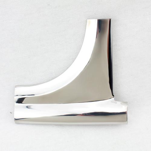 55 56 57 Chevy LEFT Lower Corner Windshield Stainless Trim Molding Chevrolet