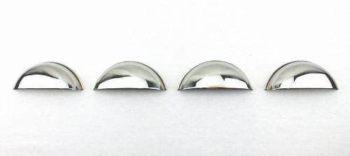 "Half Moon Headlight Covers 7 /"" set of 2 Stainless Steel"