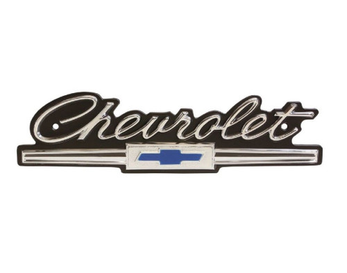 66 Chevy Impala Bel Air Biscayne Front Grille Chevrolet Emblem Script 1966