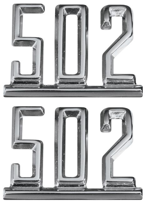 64 65 66 67 Chevy Impala Chevelle Nova Camaro Fender 502 Chrome Script Emblems