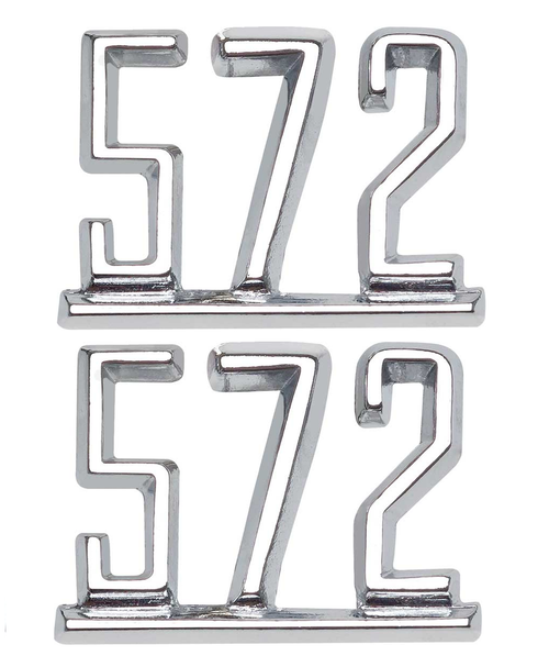 64 65 66 67 Chevy Impala Chevelle Nova Camaro Fender 572 Chrome Script Emblems