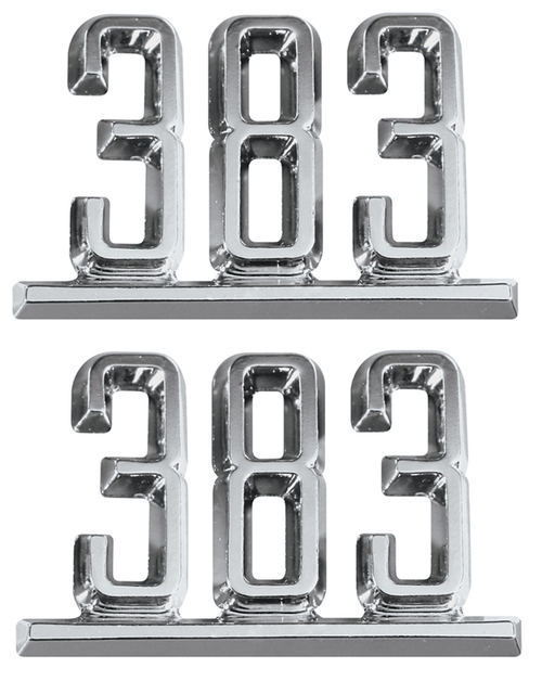 64 65 66 67 Chevy Impala Chevelle Nova Camaro Fender 383 Chrome Script Emblems