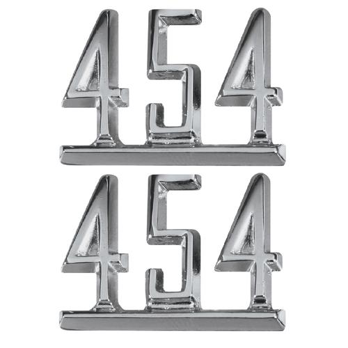 64 65 66 67 Chevy Impala Chevelle Nova Camaro Fender 454 Chrome Script Emblems