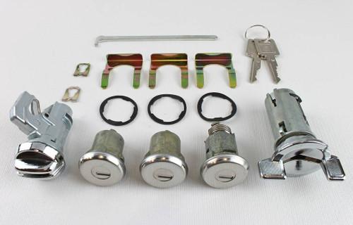 69 70 Chevy Bel Air Biscayne Impala Caprice Ignition Door Glove Box Trunk Lock Set