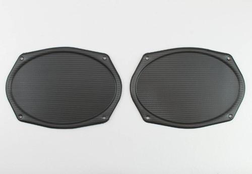 Vintage BLACK Metal Mesh Speaker Grill Cover Package Tray 6X9 Lowrider PAIR