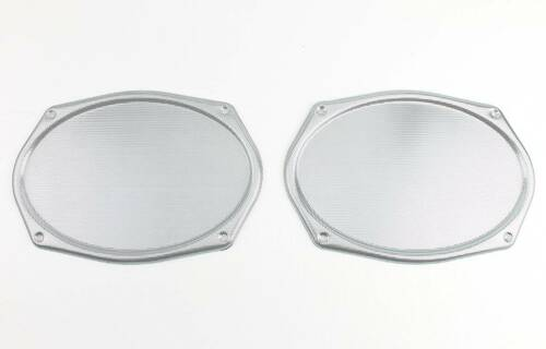 Vintage CHROME Metal Mesh Speaker Grill Cover Package Tray 6X9 Lowrider PAIR