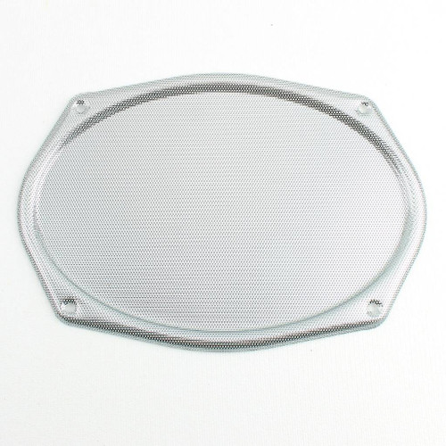Vintage CHROME Metal Mesh Speaker Cover Package Tray 6X9 Lowrider Rat Hot Rod
