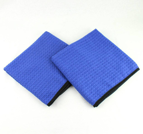 "2- Waffle Weave Microfiber Auto Car Wash Detail Drying Towels Large 40"" x 20"""