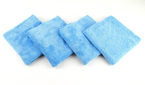 4- Premium Edgeless Microfiber Polishing Wax Towels Professional Grade 16x16
