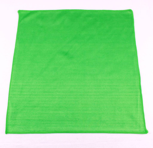 "1 Lint Free Green Microfiber Auto Home Glass Window Mirror Cloth Towel 16"" x 16"""