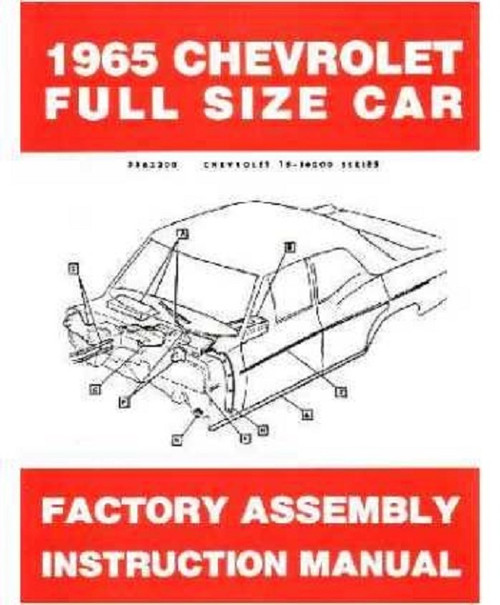 65 1965 Chevy Impala Electrical Wiring Diagram Manual - I-5 Classic ChevyI-5 Classic Chevy