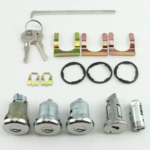 66 1966 Chevy Chevelle Malibu Ignition Door Glove Box Trunk Lock Set Kit