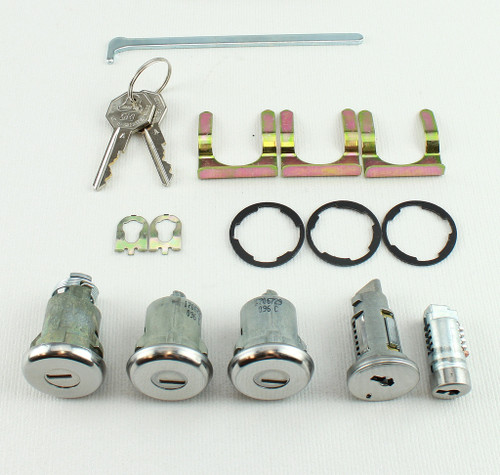 67 1967 Chevy Chevelle Malibu Ignition Door Glove Box Trunk Lock Set Kit