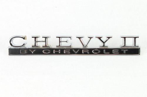 68 1968 Chevy II Nova by Chevrolet Trunk Deck Lid Chrome Script Emblem
