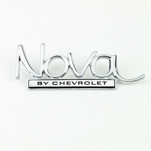 69 70 71 72 Chevy II Nova by Chevrolet Trunk Deck Lid Chrome Emblem