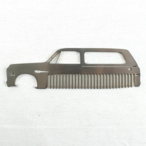69-72 Chevy K5 Blazer Brushed Stainless Steel Metal Trim Beard Hair Mustache Comb