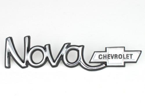 73 74 Chevy Nova Hood or Trunk Deck Lid or Hatchback Script Emblem 1973 1974 New