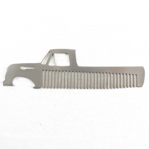 61-66 Ford Truck Brushed Stainless Steel Metal Trim Beard Hair Mustache Comb