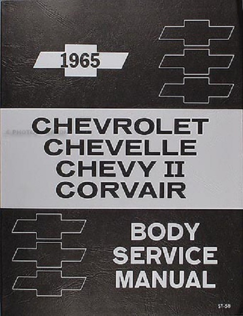 65 1965 CHEVY IMPALA CHEVELLE NOVA BODY SERVICE SHOP MANUAL
