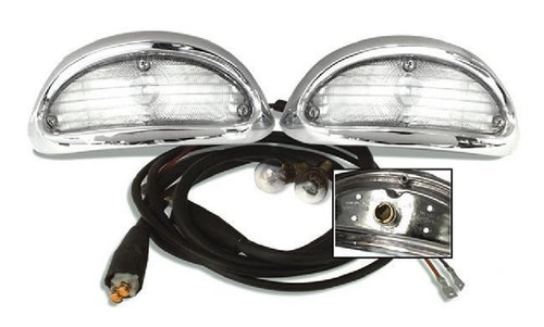 55 1955 CHEVY PARK LIGHT TURN SIGNAL CHROME ASSEMBLY w/ WIRING