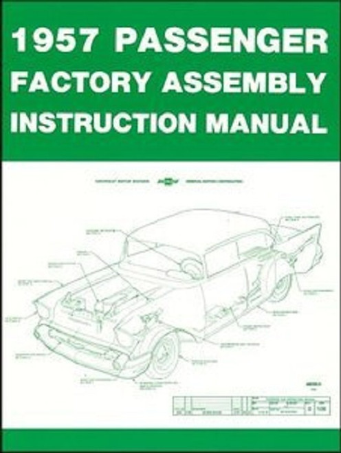 57 CHEVY FACTORY TYPE ASSEMBLY MANUAL BOOK COMPLETE